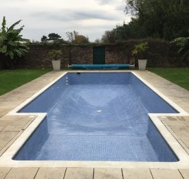 Tiled pool renovation project.