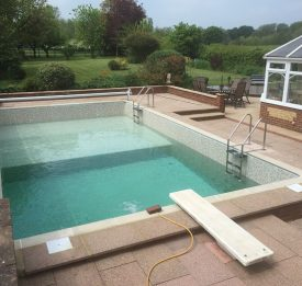 New Pool Build with Diving Board