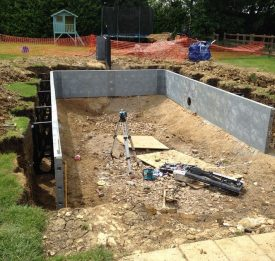 Initial pool ground work