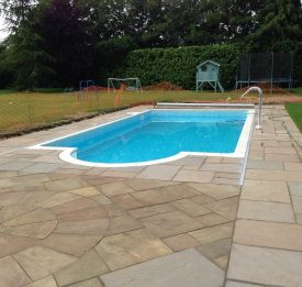 Complete new outdoor residential pool