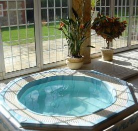 Residential tiled spa