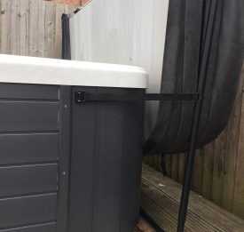 Bespoke hot tub cover with amazing cover lifter