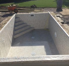 Polystyrene blocks with reinforced concrete finished with a modern liner Bedfordshire