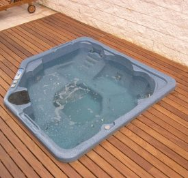 Sunken hot Tub with decking