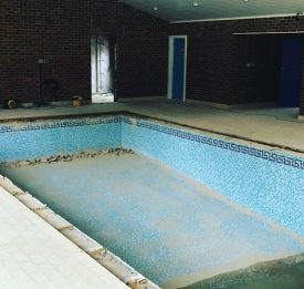 The beginning of the pool renovation in Hitchin