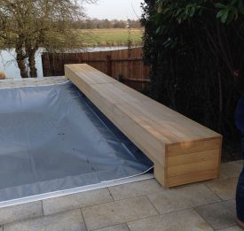 Large Winter Cover with Wooden cover enclosure