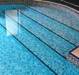 Indoor pool with Mosaic roman end steps