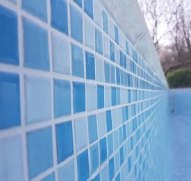 Close up of our tile work during a pool refurbishment job