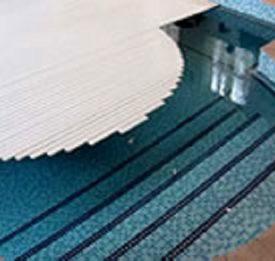 Custom slatted swimming pool cover