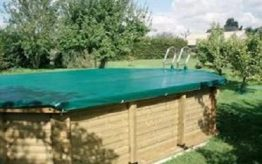 Deluxe Tarp WD Cover for Exercise Wooden Pool