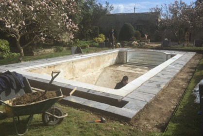 Pool renovation in Bedford