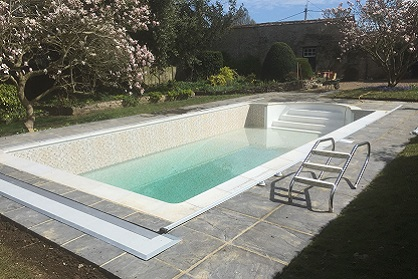 Almost completed pool renovation Bedford