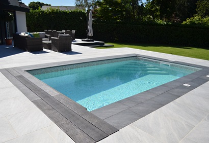 Award winning Small outdoor pool installation
