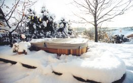 Hot Tub in the snow