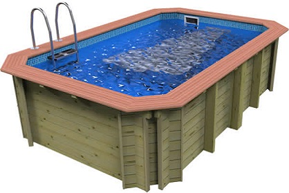 Wooden exercise pool with Badu Perla