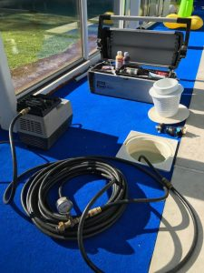 Swimming pool Pressure test and pool leak detection company