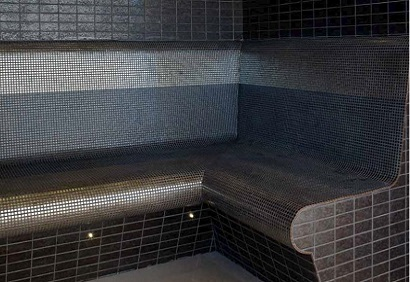 Tiled steam room installation Bedford