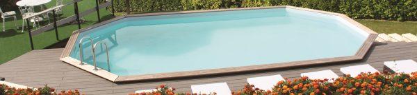 DIY wooden pool