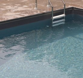 Grey liner in swimming pool | Blue Cube Pools