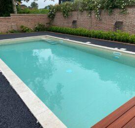 Sand coloured pool liner | Blue Cube Pools